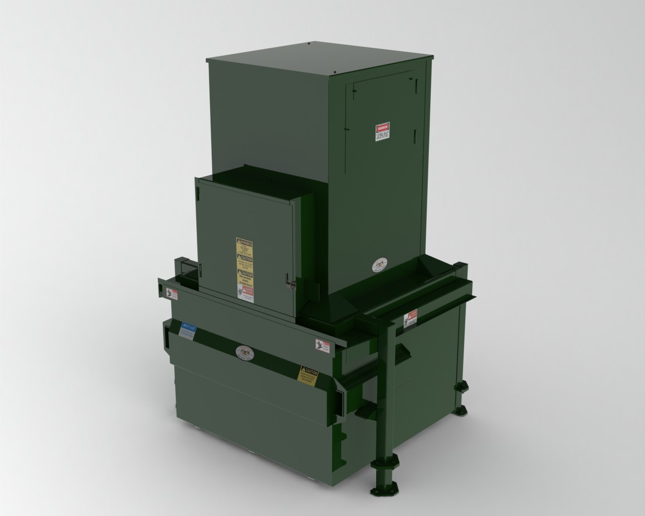 Vertical garbage trash waste compactor Garbage compactor