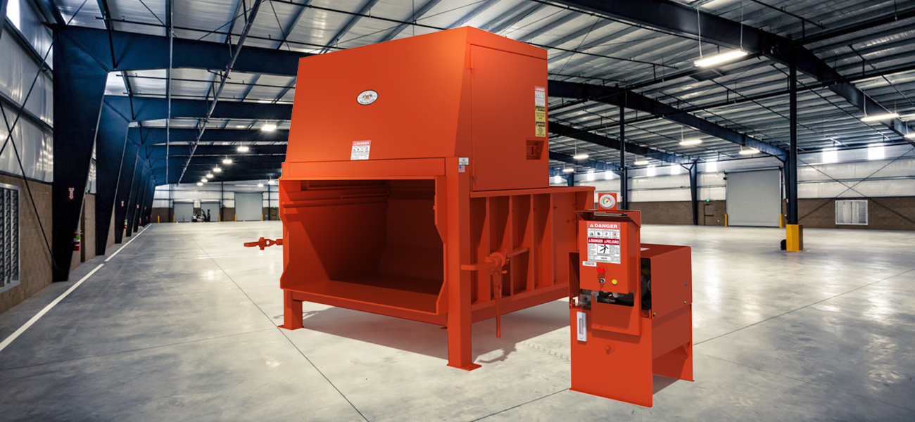 Cardboard balers, trash compactors and other recycling equipment on waste container, waste generator, waste management cardboard, waste bales, waste informative,